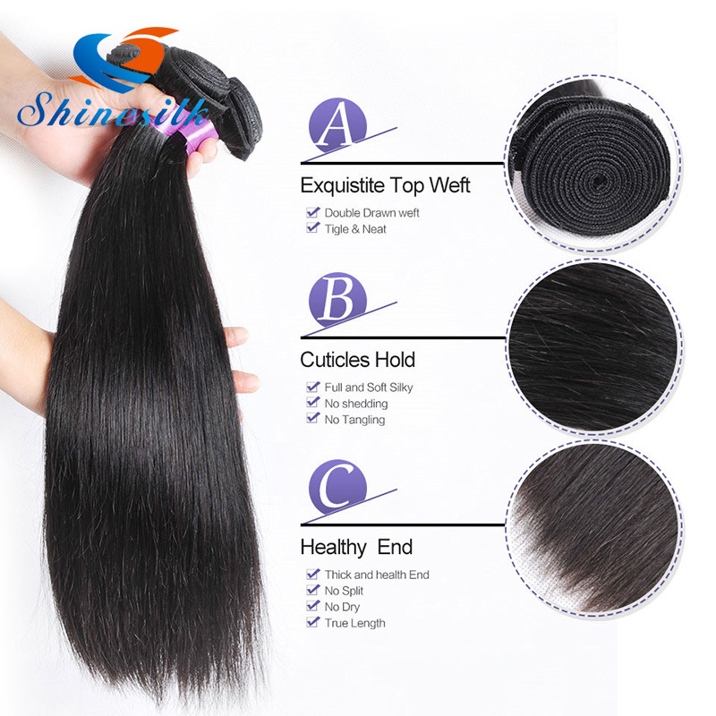 China High Quality 100human Hair Chinese Hair Straight Remy Hair