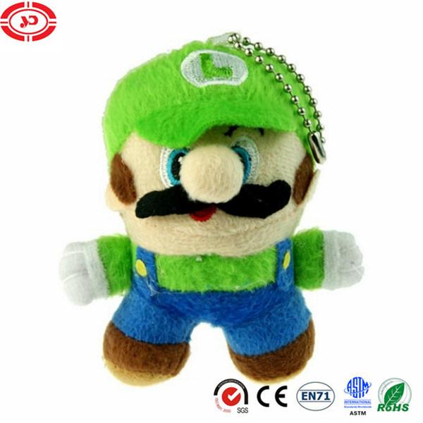 China Super Mario Plush Keychain Game Character Luigi Toy Stuffed