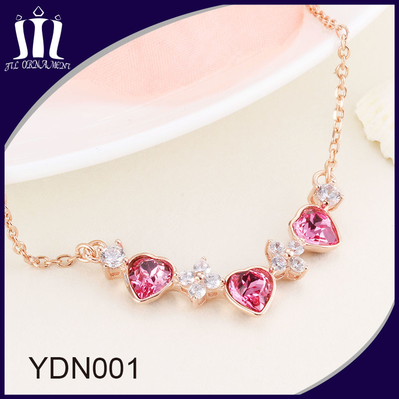 Imitation Jewelry Factory Crystal Charm Pendant Necklace