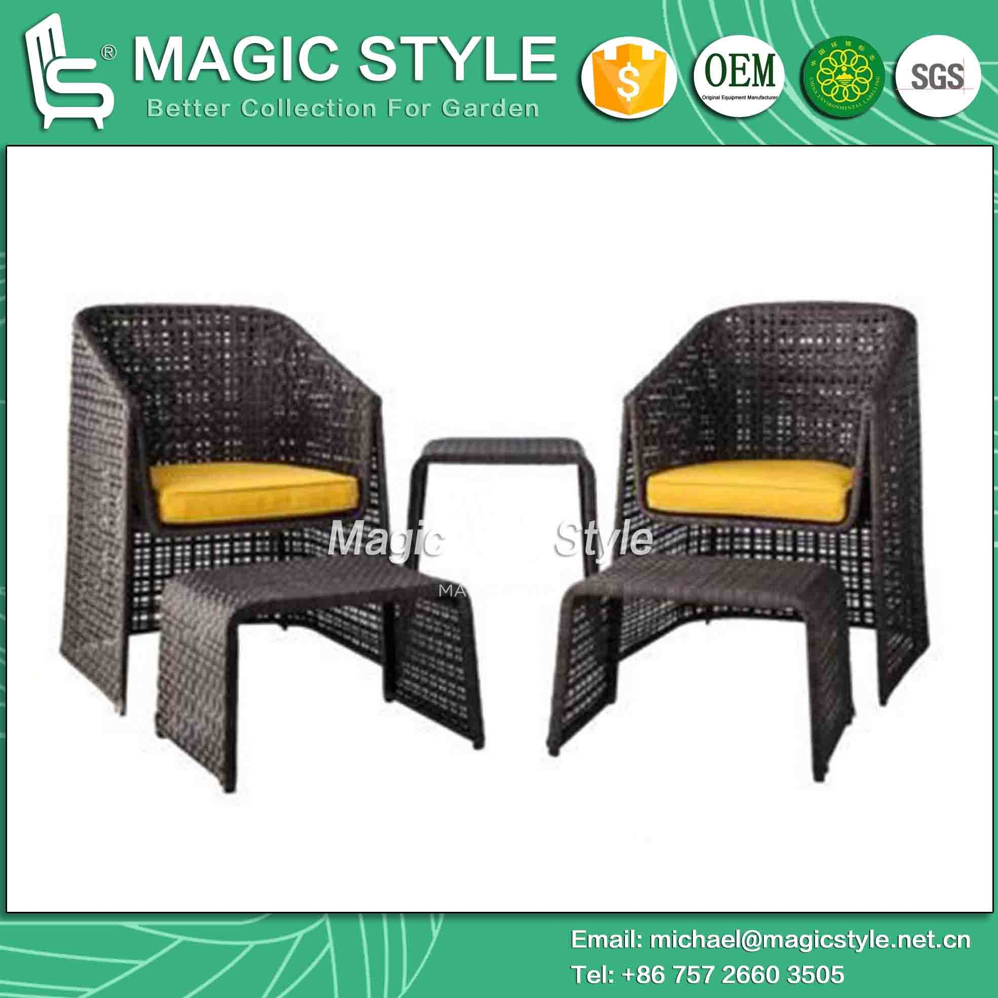 China Rattan Coffee Set Leisure Chair Rattan Chair Footstool (Magic Style)    China Outdoor Furniture, Wicker Furniture