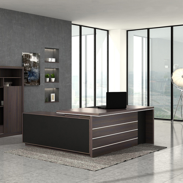 Hot Item High Quality Modern Luxury Executive Wood Office Desk Secretary Counter Table Furniture Design Photos