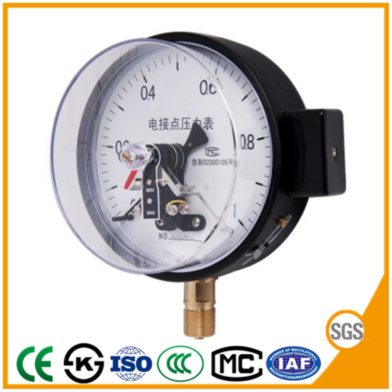 China 150mm Electric Contact Manometer Pressure Gauge with Factory ...