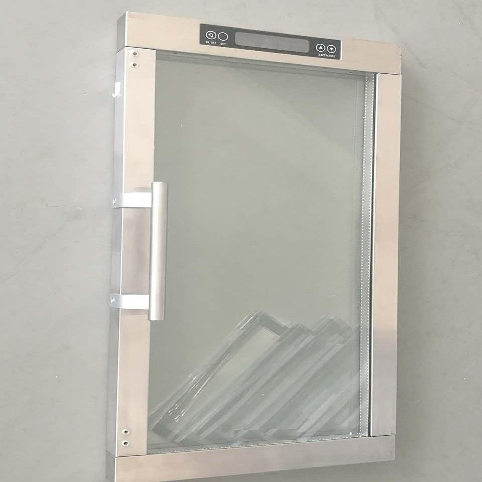 China Aluminium Frame And Pvc Frame Refrigerator Glass Door With