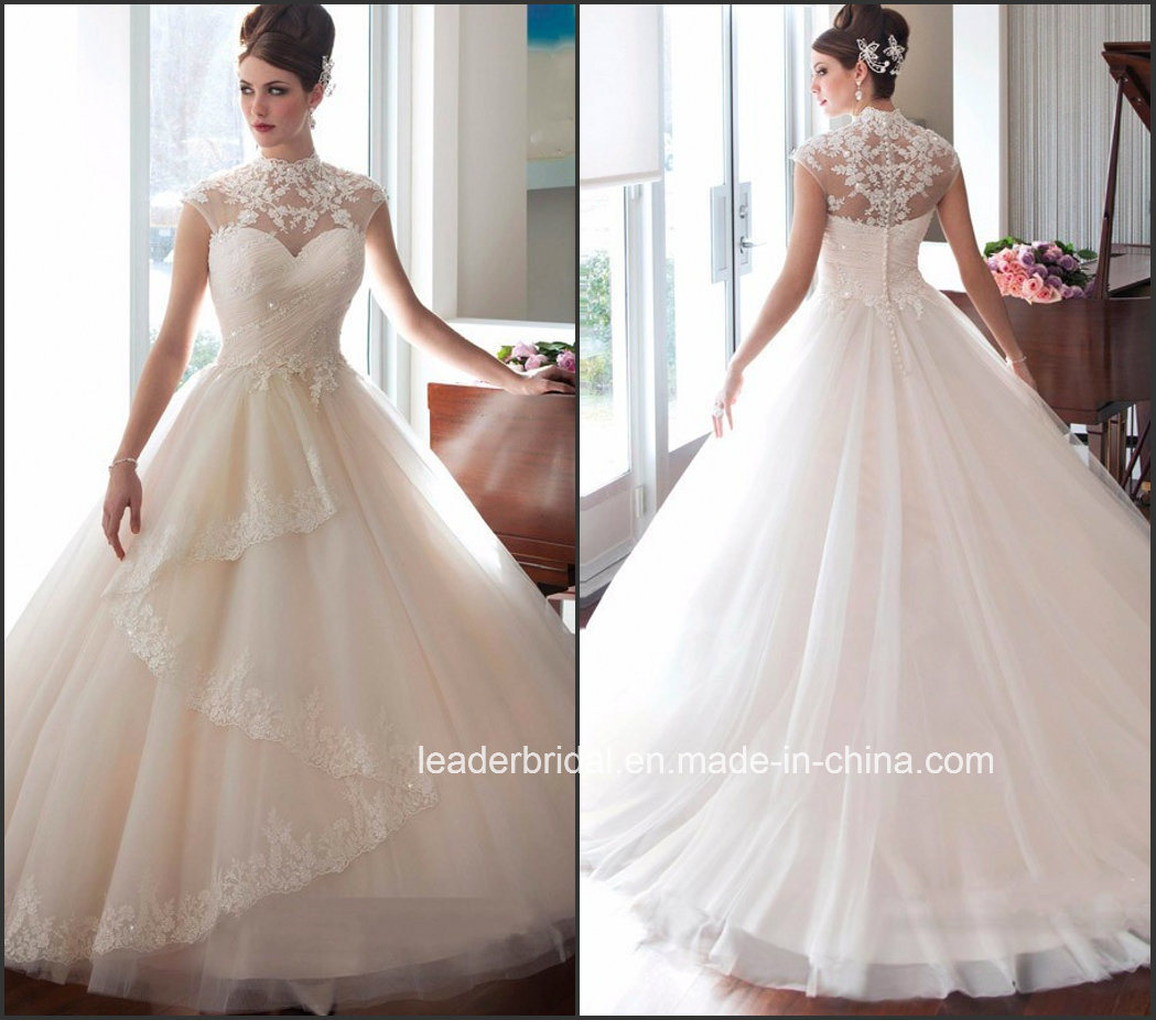 Corset Wedding Dresses.Hot Item Lace Corset Wedding Dress Tulle High Neck Bridal Wedding Gown Wd1535