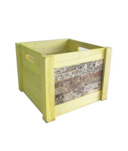 China Square Wooden Storage Basket Box