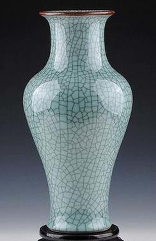 Chinese Antique Porcelain Slitting Celadon Vase Photos Pictures