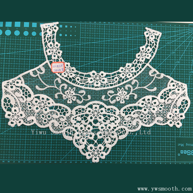 China Fashion Cotton Crochet Necklace Embroidery Lace Collar Fabric