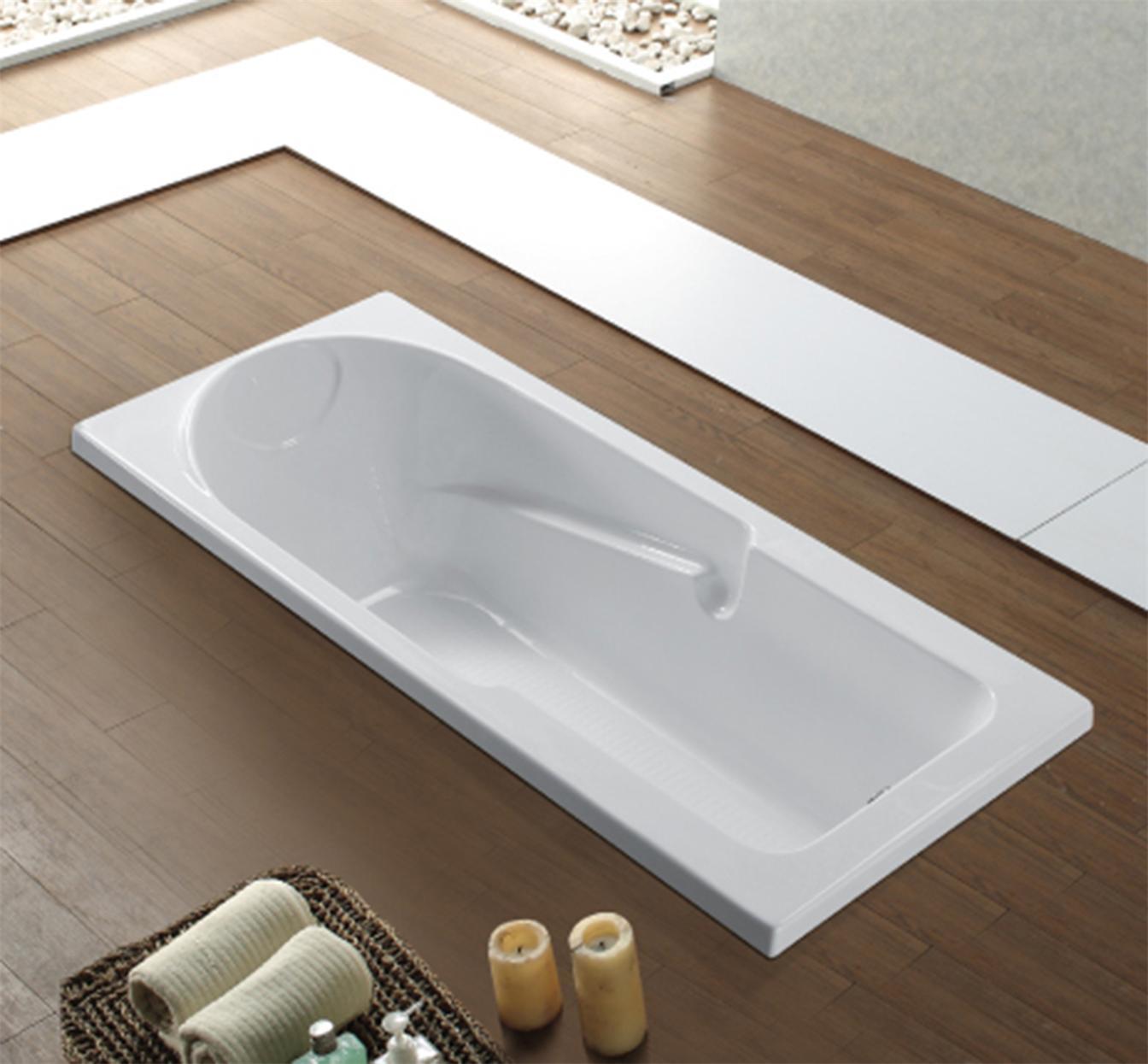 China Cheap Acrylic Rectangle Drop-in Bathtub B-615 - China Bathtub ...