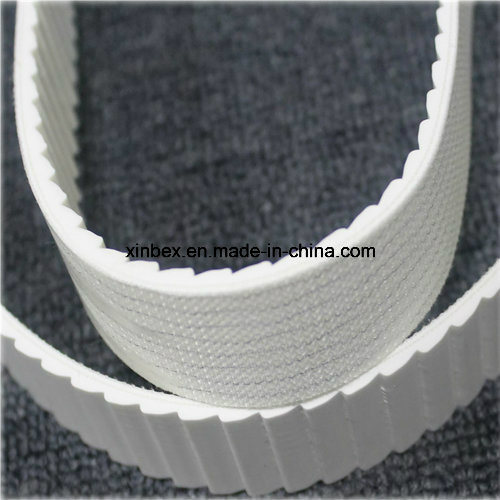 PVC White/Green Longitudinal Rib/Saw Tooth High Friction Conveyor Belt pictures & photos
