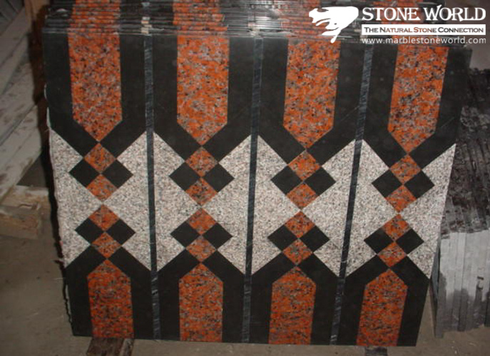 Mixed Color Waterjet Marble Medallion for Flooring/Paving/Lobby Tiles (mm-004) pictures & photos
