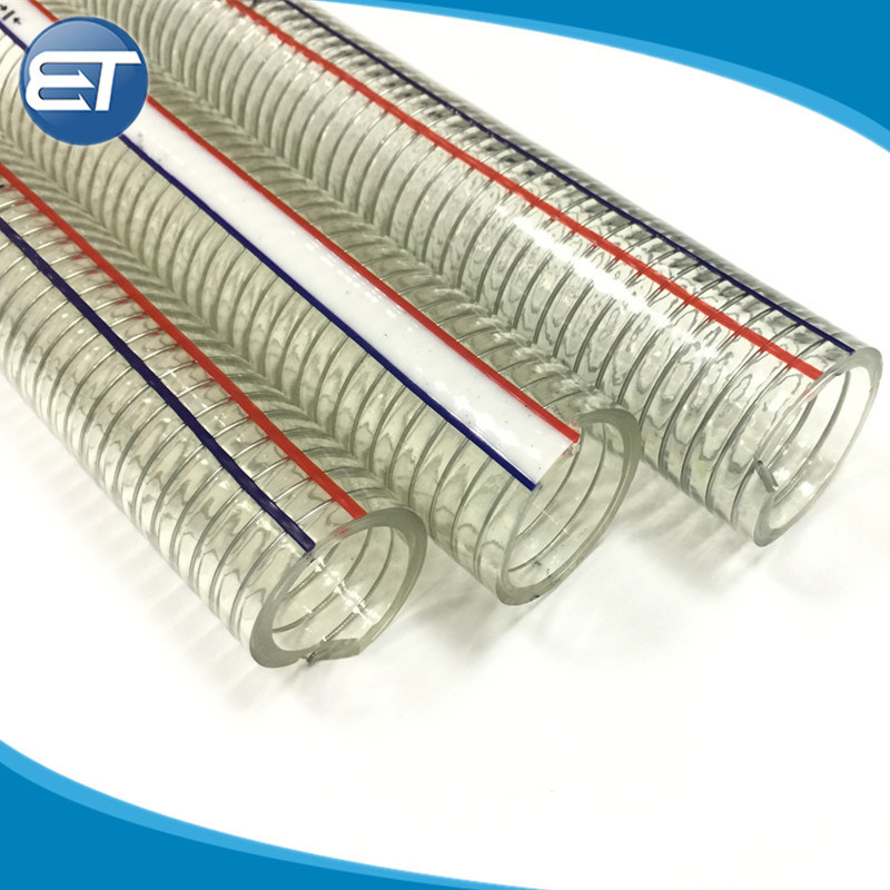 Wire Suction PVC Flexible Tubing High Pressure UV Chemical Resistant Vinyl Hose