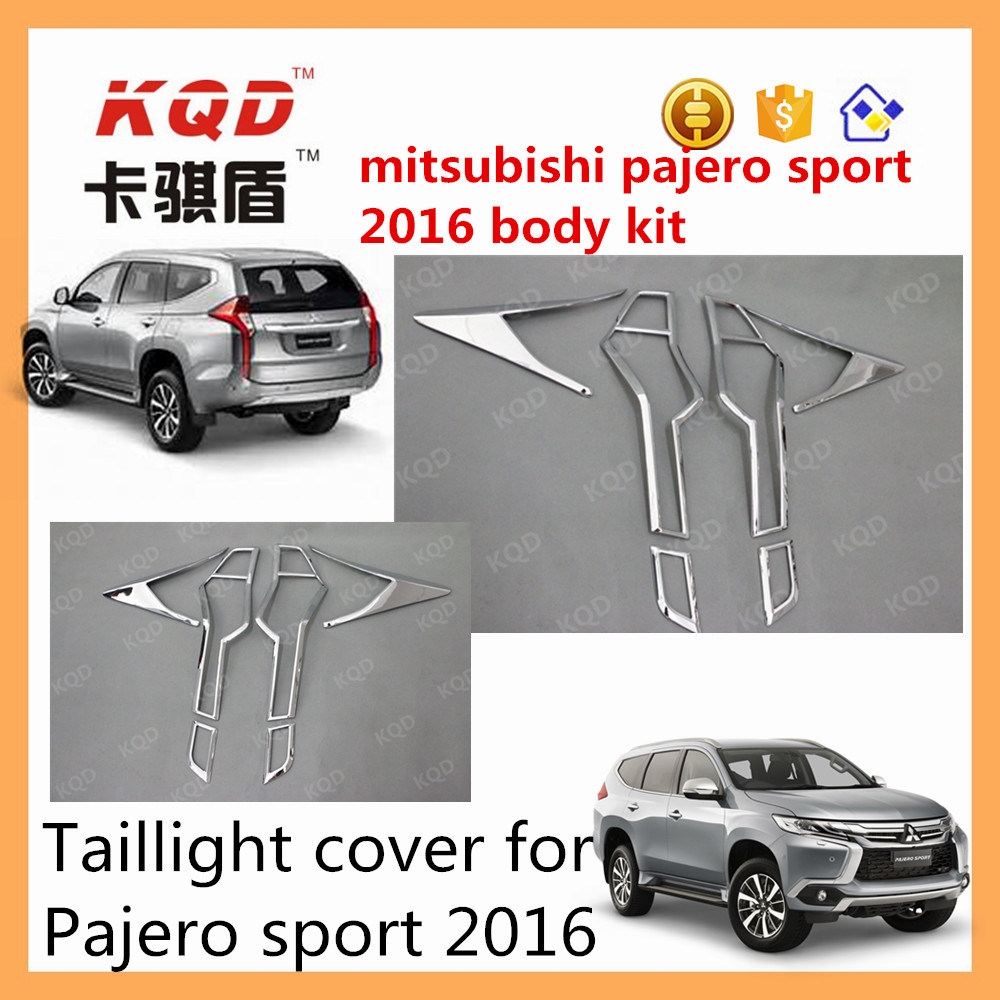 China New Arrival Car Chrome Accessories Abs Plastic Tail Light Rear Bumper Step Cover Stainless Mobilio Covers For Mitsubishi Montero Sport 2016 Lamp Front Grille