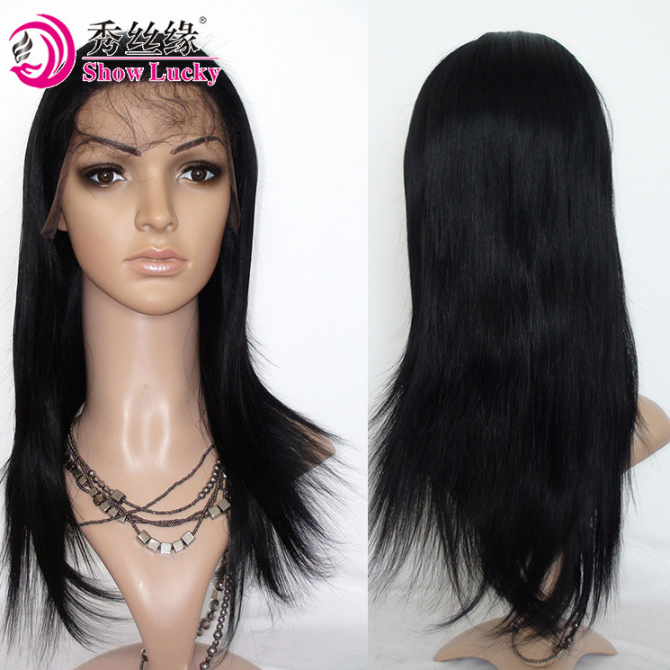 Big Discount High Density Full Lace Front Wig Unprocessed Remy Indian Human Hair Silk Straight pictures & photos