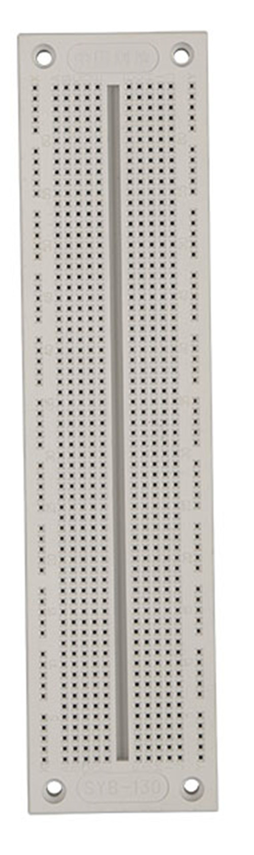 China Test Solderless Breadboard With 760 Tie Ponit Syb 130 Transparent Showing The Metal Strips For Circuit Board