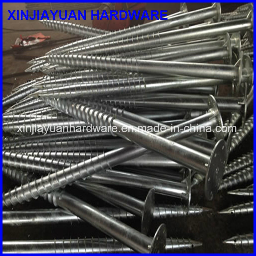 1.6m Galvanized Steel Ground Screw for for Flag Pole pictures & photos