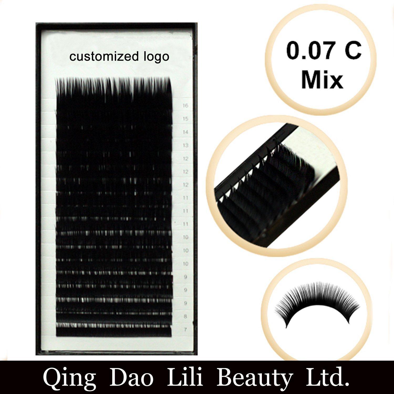 China Free Samples Best Price Ellipse Flat Eyelash Extension Real