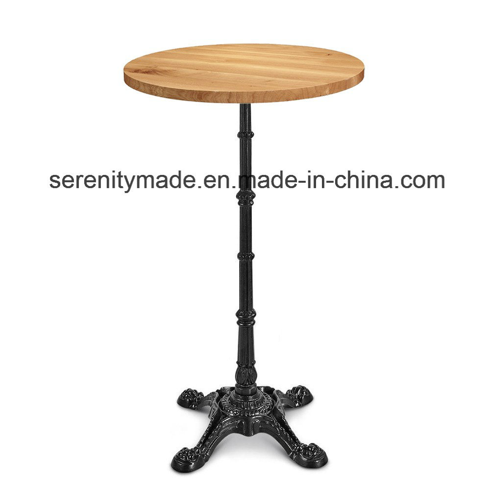 Attrayant China Foshan Factory Price Outdoor Used Iron Base Marble/Wooden High Table    China Bar Marble Table, High Wooden Table