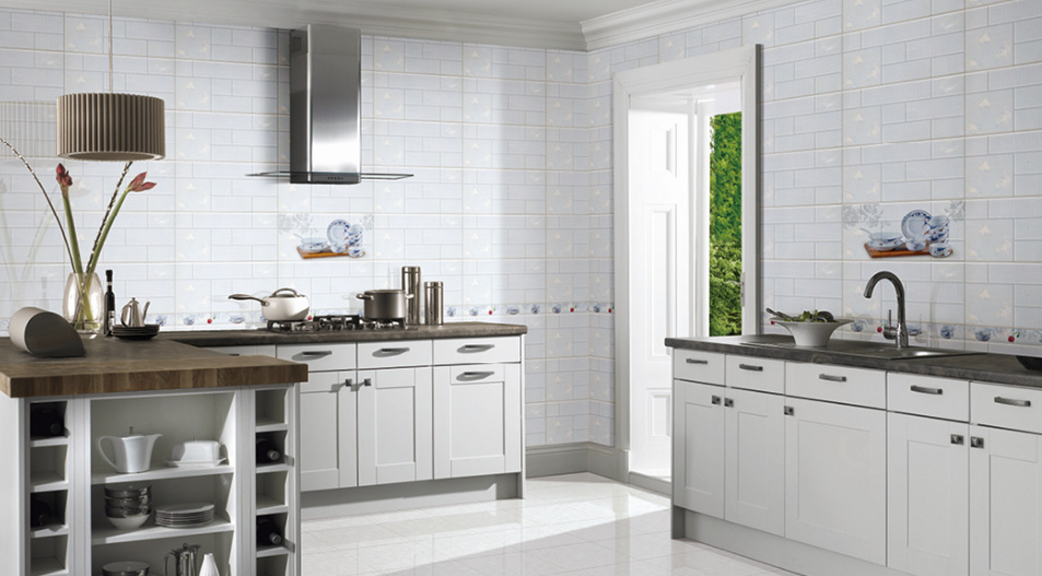 China 30x60 White Glazed Surface Ceramic Wall Tile For Bathroom And Kitchen China Wall Tile Ceramic Tile