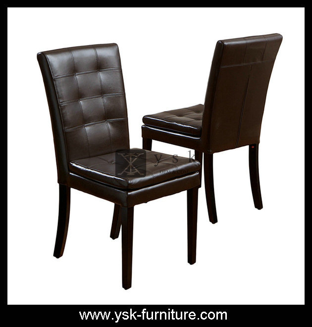 China Dc 209 Latest Design Pu Leather Upholstered Black Wooden Dining Chair China Leather Chair Upholstered Dining Chair