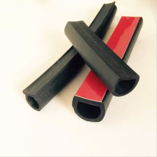 D Type Noise Insulation Car Door Seal Strip With 3m Tape