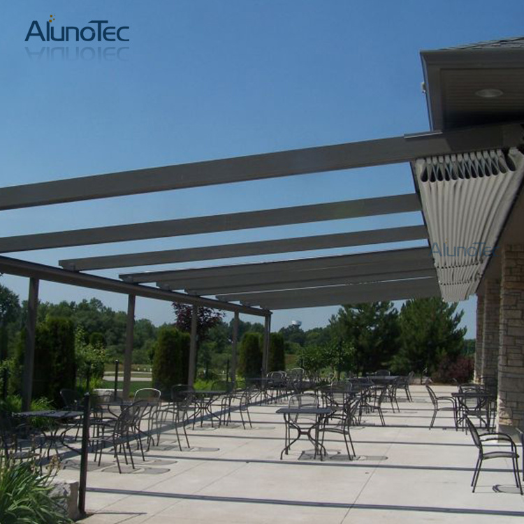 Electric Retractable Rain Roof Waterproof Aluminum PVC Awning