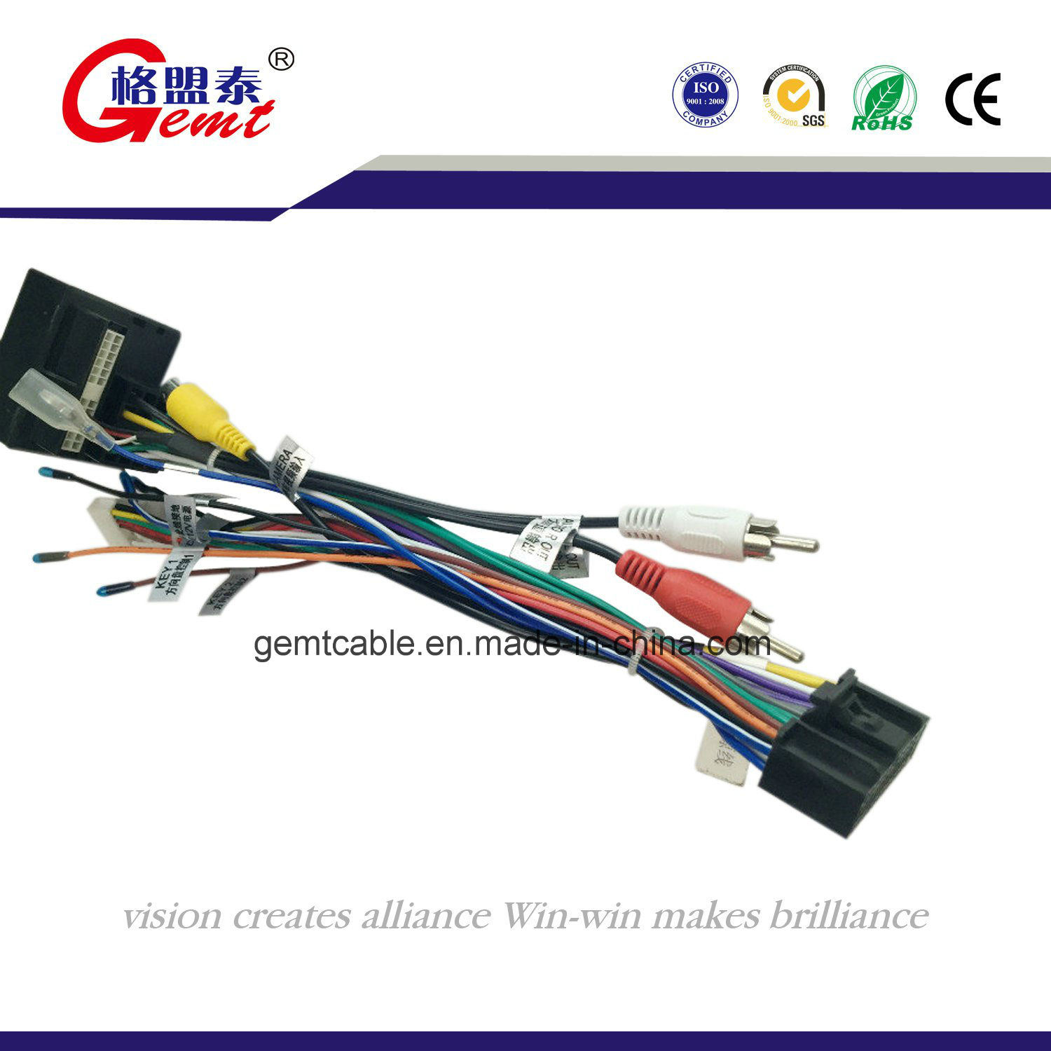 China Wiring Harness Psa Peugeot Citroen Extension Cord - China Auto Cable  Harness, Battery HarnessDONGGUAN GEMT CABLE CO., LTD.