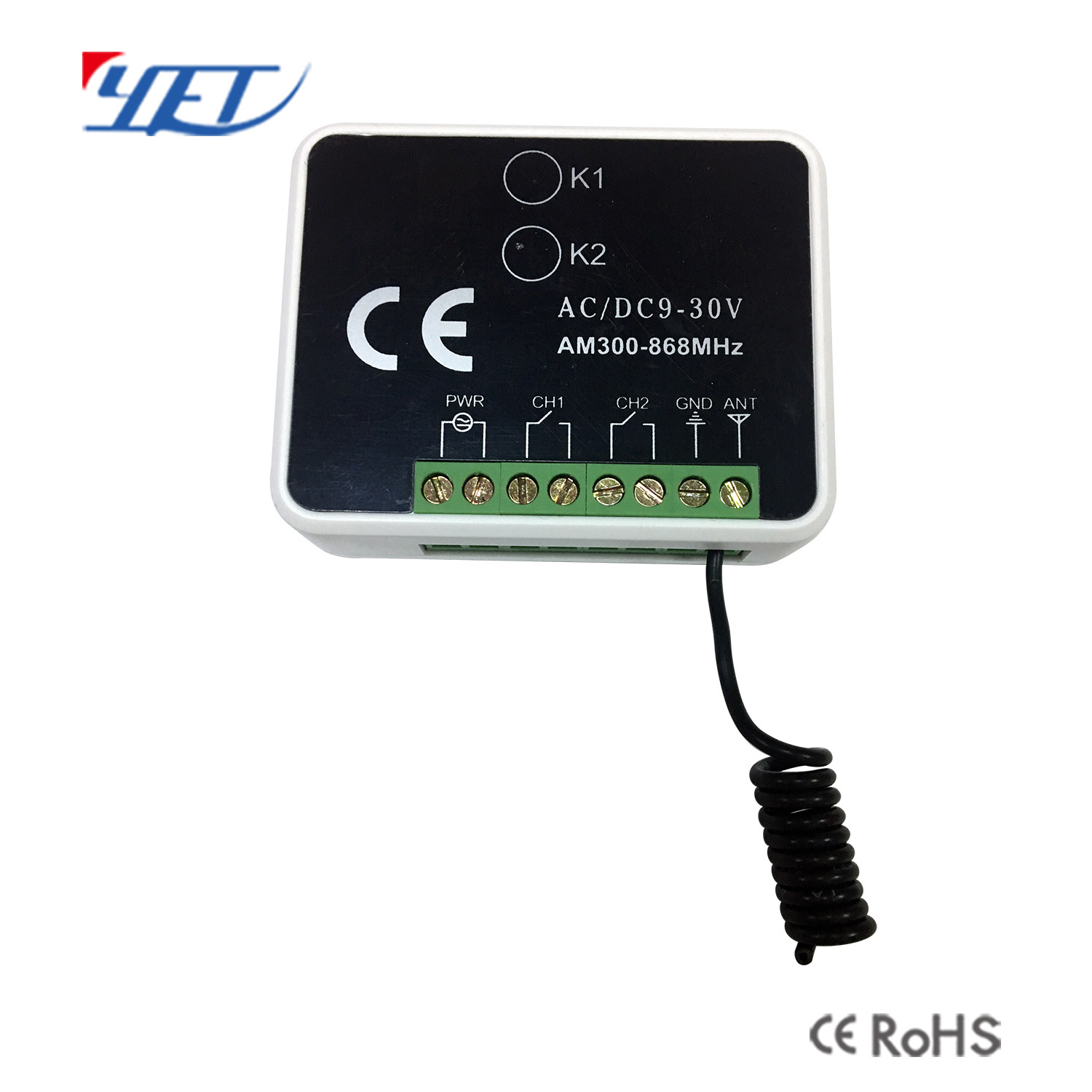 [Hot Item] 2 Channel Multi Frequency Auto Scan Universal Receiver Switch  Yet402mf-V3 0