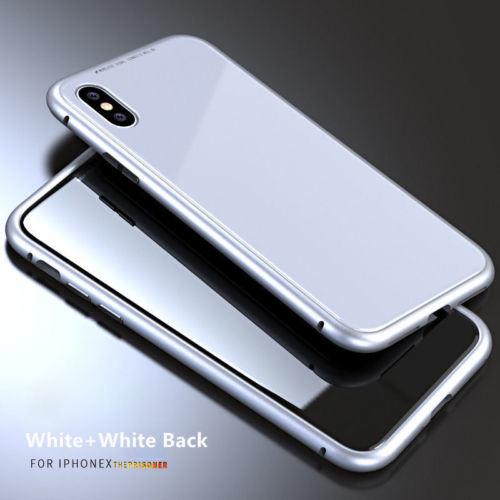 brand new 8732f bb6c1 [Hot Item] Magnetic Adsorption Metal Bumper Case for iPhone X 7 8