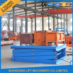 Hydraulic Stationary Scissor Cargo Lifter with Ce pictures & photos