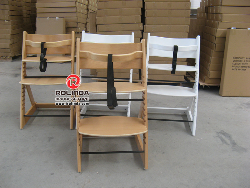 Toddler High Chair Wood Baby Dining