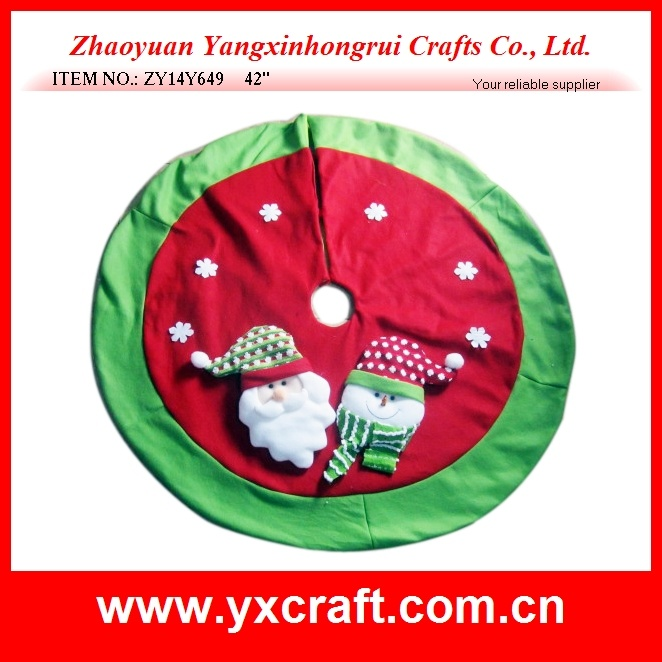 Christmas Decoration (ZY14Y640 42′′) Christmas Tree Skirt Decoration Custom Skirt