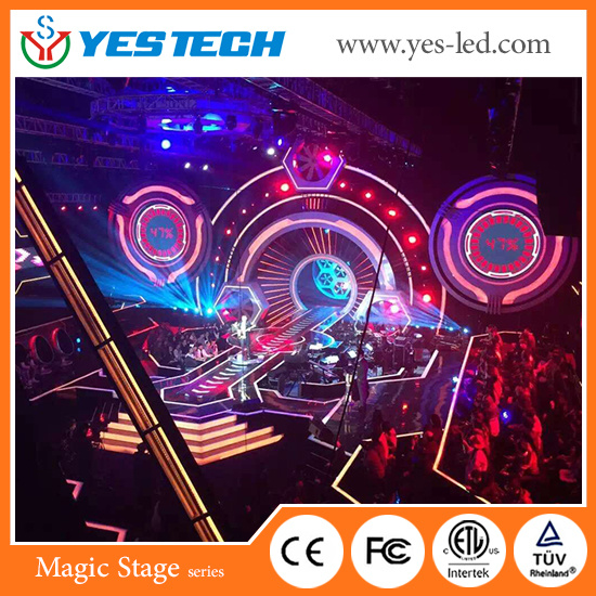 [Hot Item] Magic Stage Flexible Full Color LED Curtain Screen for Stage/ TV  Show