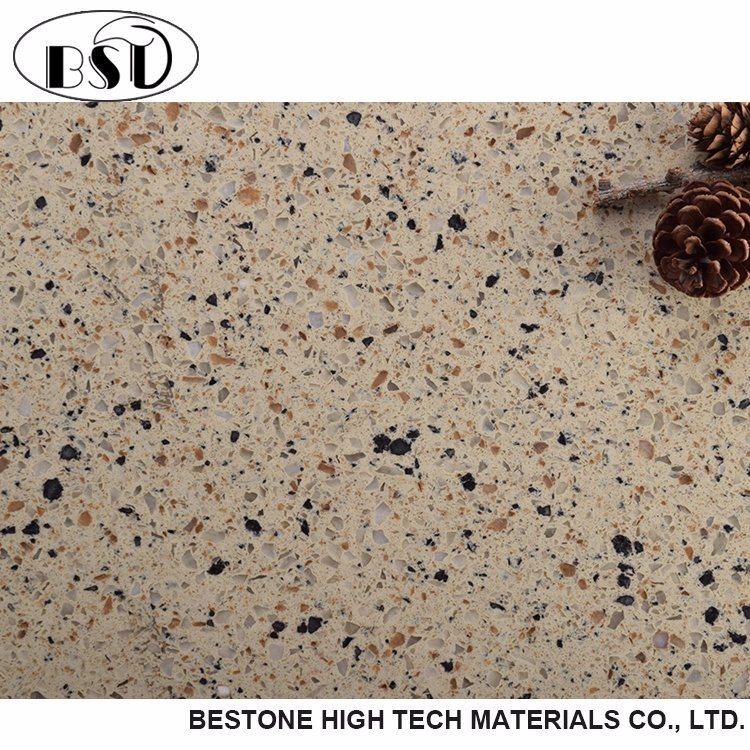 China Decorative Durable Artificial Quartz Stone Flooring Tiles