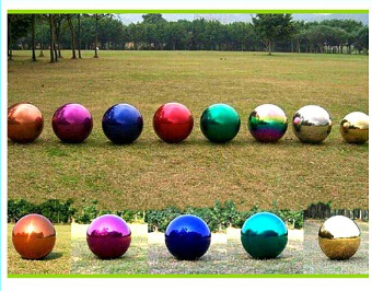 120mm Mirror Polished Gazing Rainbow Hollow Sphere Stainless Steel Ball For  Toys Or Garden Decoration