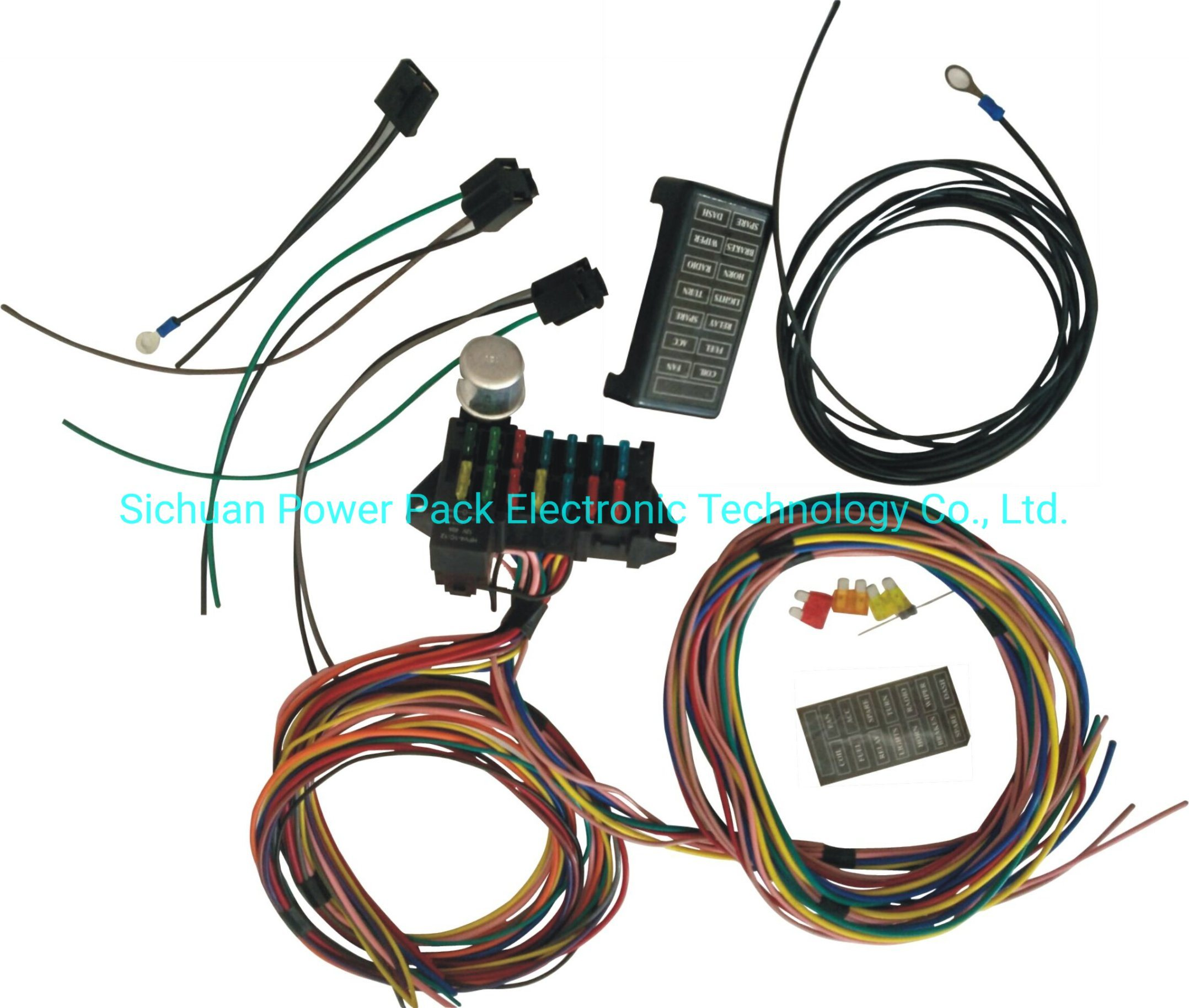 [DIAGRAM_34OR]  China 12-14 Circuit Universal Wiring Harness Muscle Car Hot Rod Street Rod  XL Wires - China 14 Circuit Wire Harness, Wire Harness Kit | Hot Rod Wiring Harness |  | Sichuan Power Pack Electronic Technology Co., Ltd.