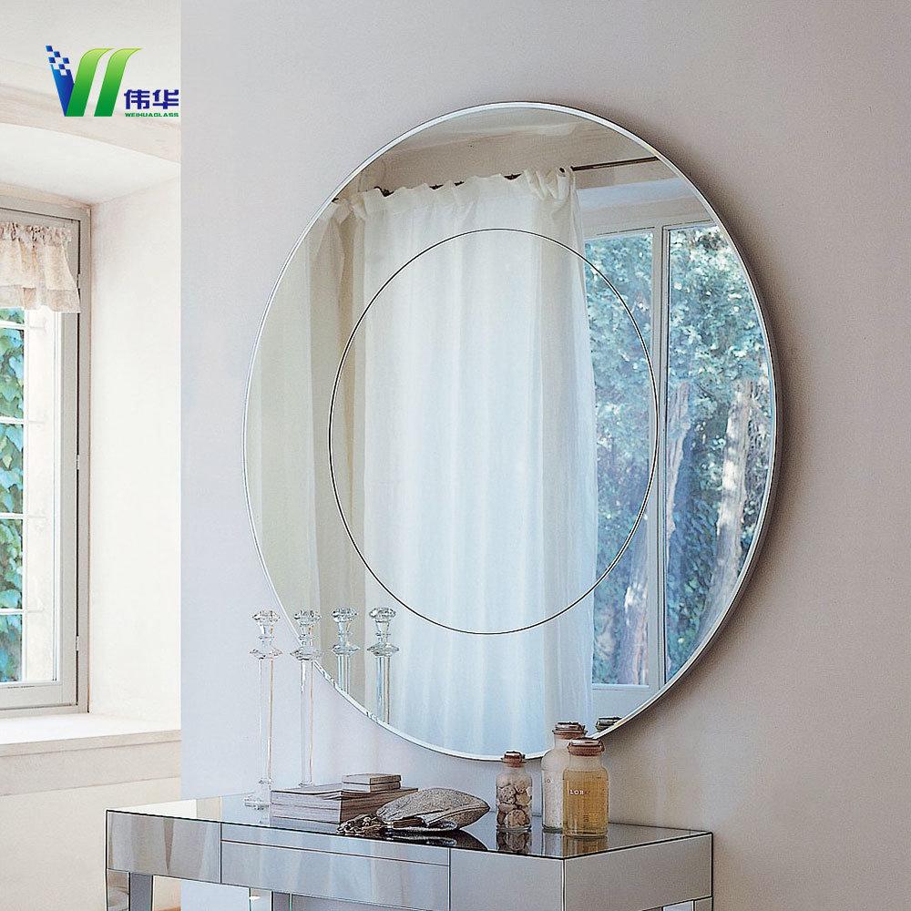 Wood Wall Mirrors Decorative Silver