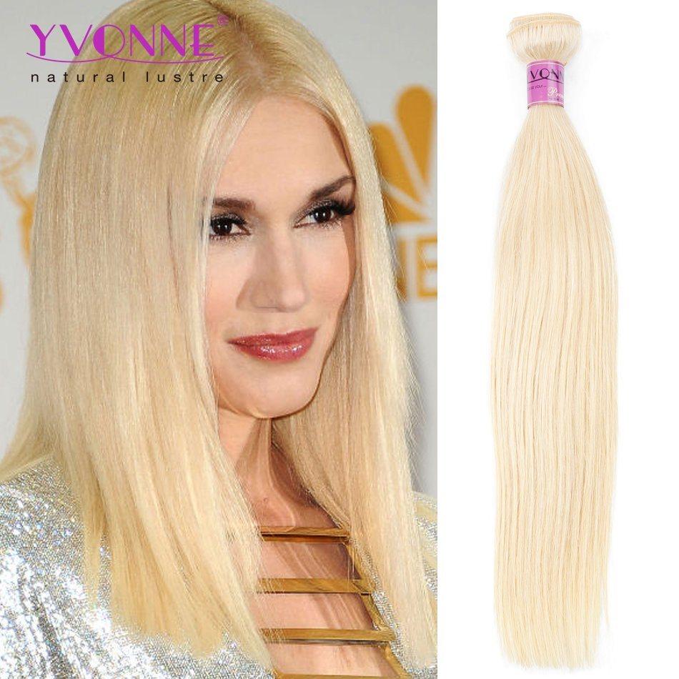 China Yvonne Peruvian Virgin Human Hair Weave Color 613 Natural