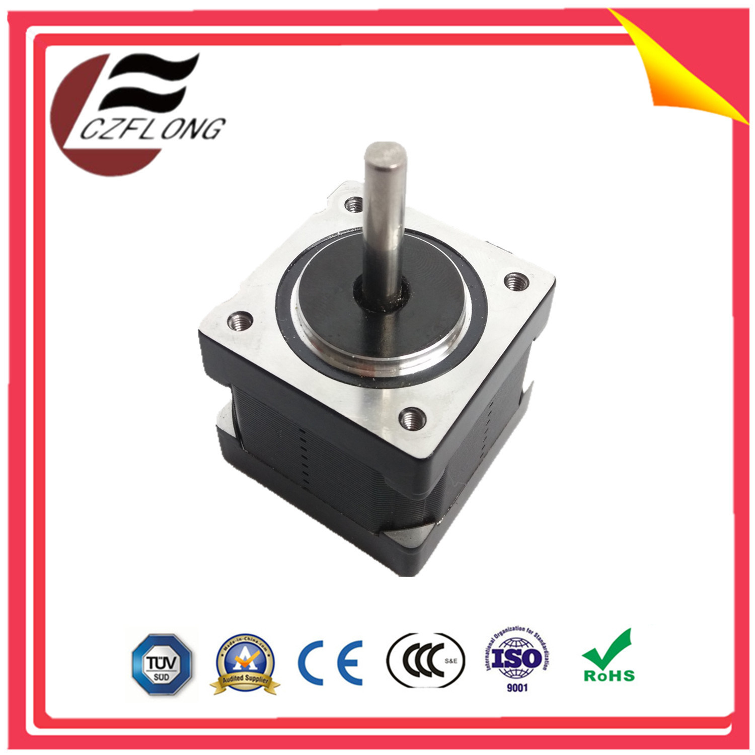 China Small Vibration 2 Phase Stepping Servo Brushless Motor With Wiring Wires Stepper Micro