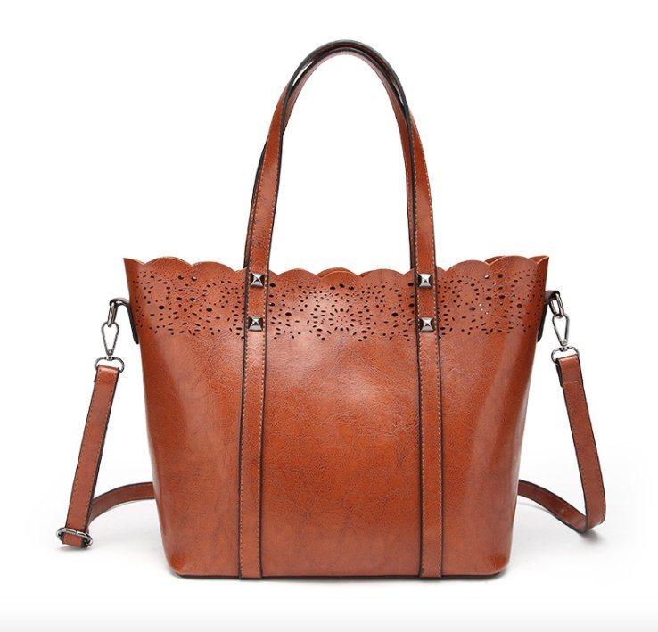 China Ladies Handbags PU Leather Women Bag Flower Hollow out Bag (WDL0862)  - China Lady Handbag a30cfc7393a44
