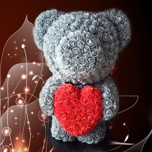 Hot Sale Teddy Bear Rose PE Foam Flower