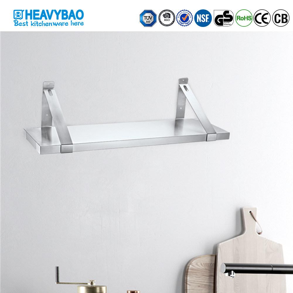 China Heavybao Modern Kitchen Stainless Steel Wall Hanging Floating Shelf China Stainless Steel Shelf And Wall Shelf Price