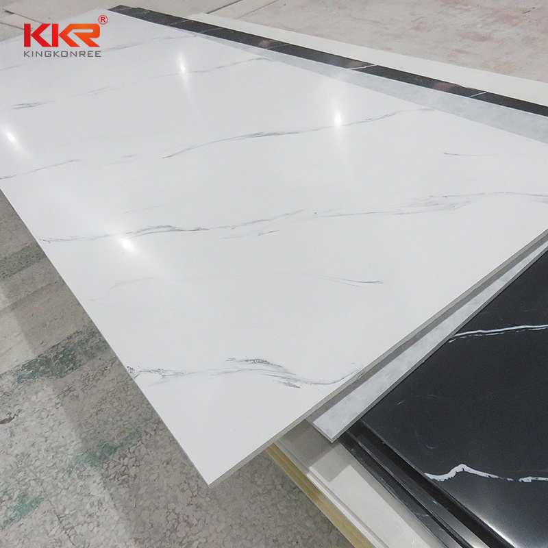 China Wall Panel Artificial Composite Stone Corian Sheets Factory White Marble Pattern Acrylic Solid Surface China Solid Surface Corian Solid Surface