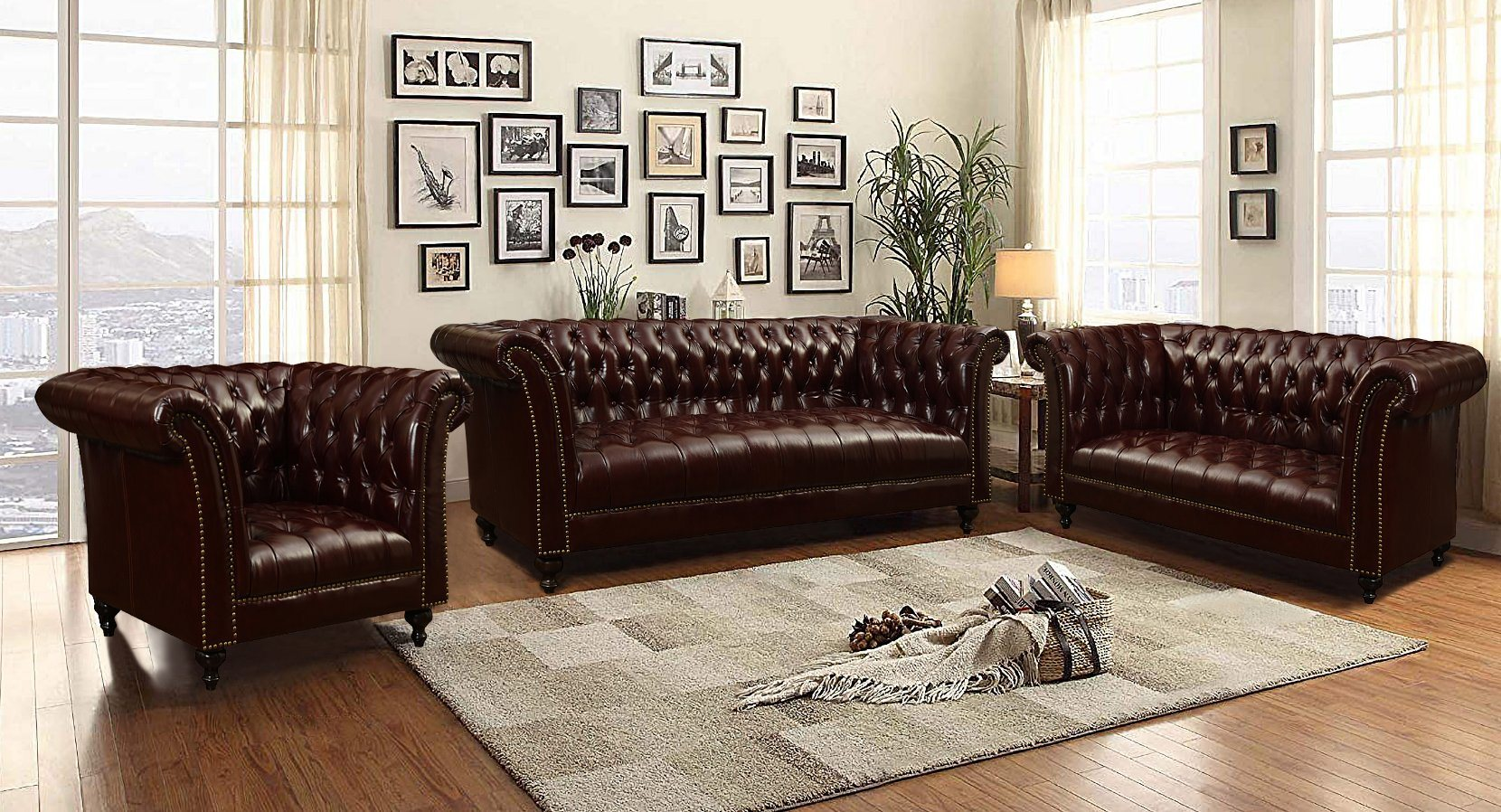 [Hot Item] Factory Wholesale Price High Quality Luxury Leather Sofa