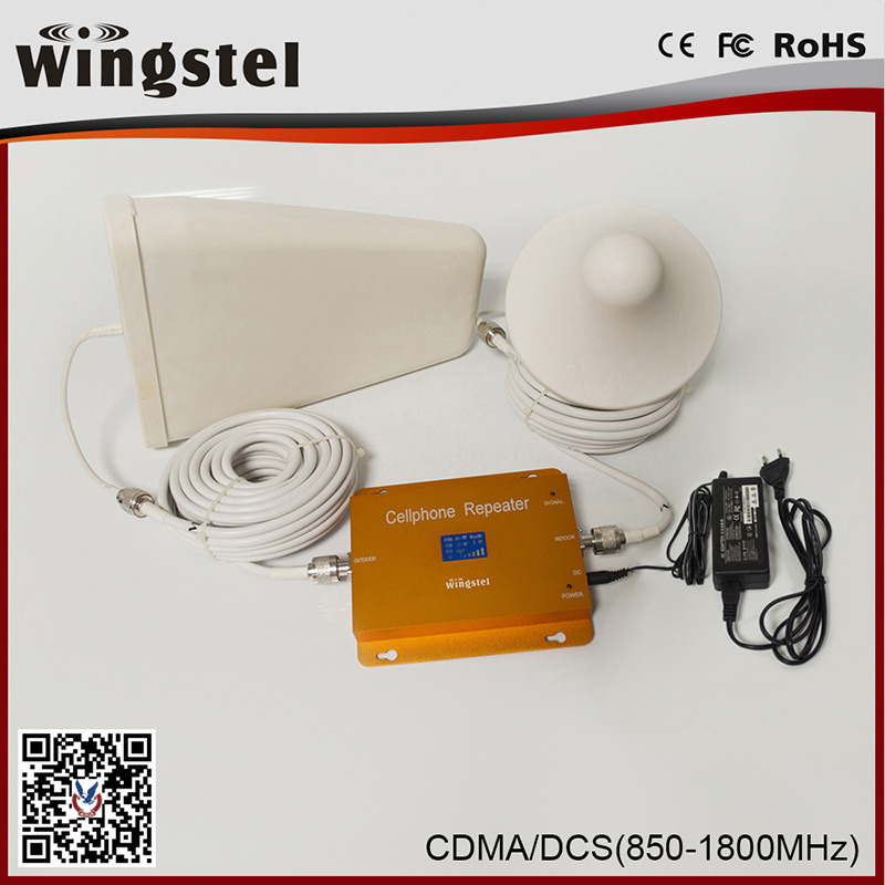 High Quality 3G 4G CDMA/Dcs Mobile Signal Booster with LCD