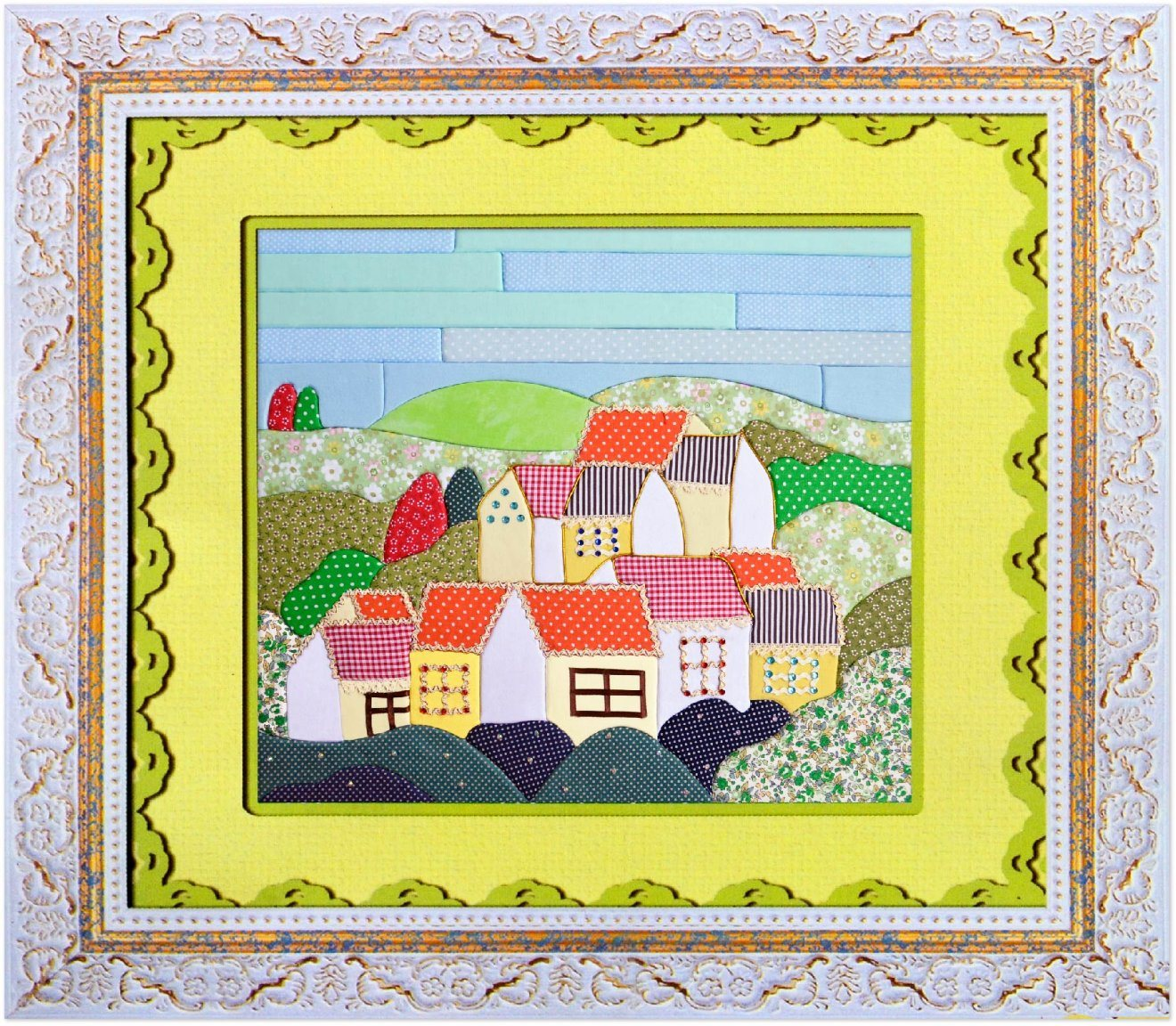 China Latest Patchwork Photo Collage Frame Easy Diy Canvas Painting