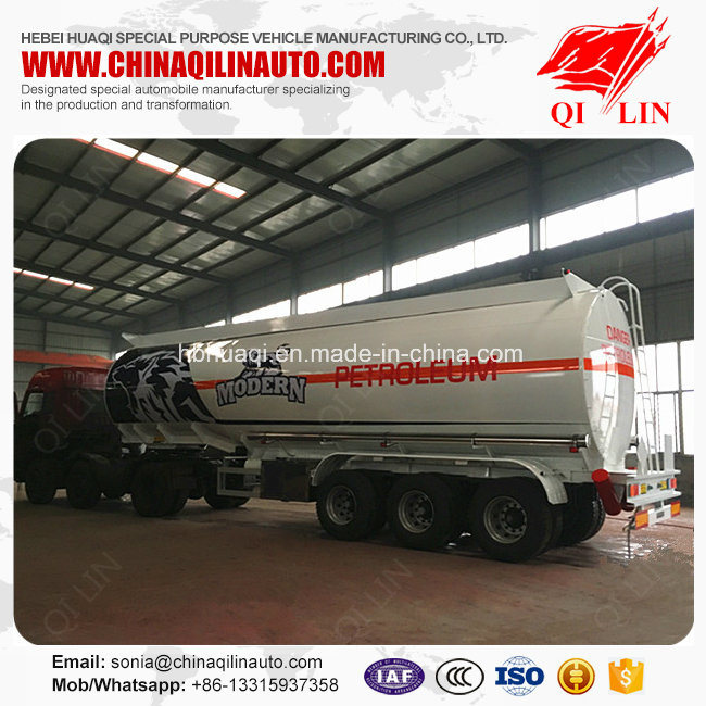 3 Compartments Aluminum Alloy Fuel Tanker Semi Trailer for Africa pictures & photos