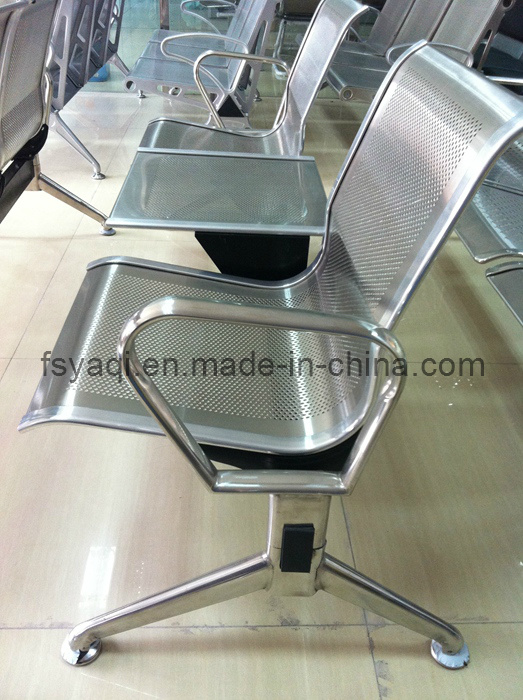 Durable Stainless Steel 2 Seater Waiting Chair with Tea Table (YA-80)