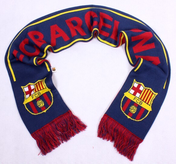 Sport Fan Acrylic Knitted Jacquard Soccer Football Scarf