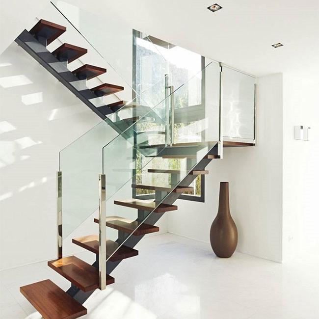 China Modern Staircase Design Steel Wood Staircase China Oak Wood