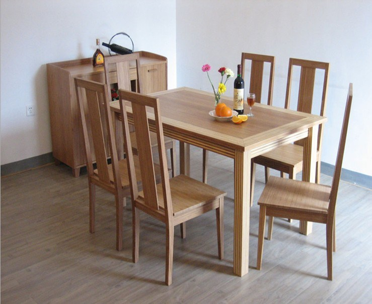China Bamboo Furniture Bamboo Diing Set Dining Table Chair Eb